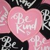 Be kind heart shaped patch