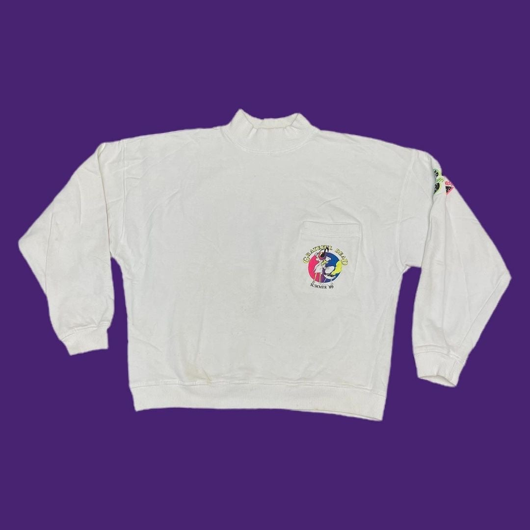 Original Vintage Grateful Dead Alpine Valley 1989 Crew/Staff Sweatshirt! LARGE!