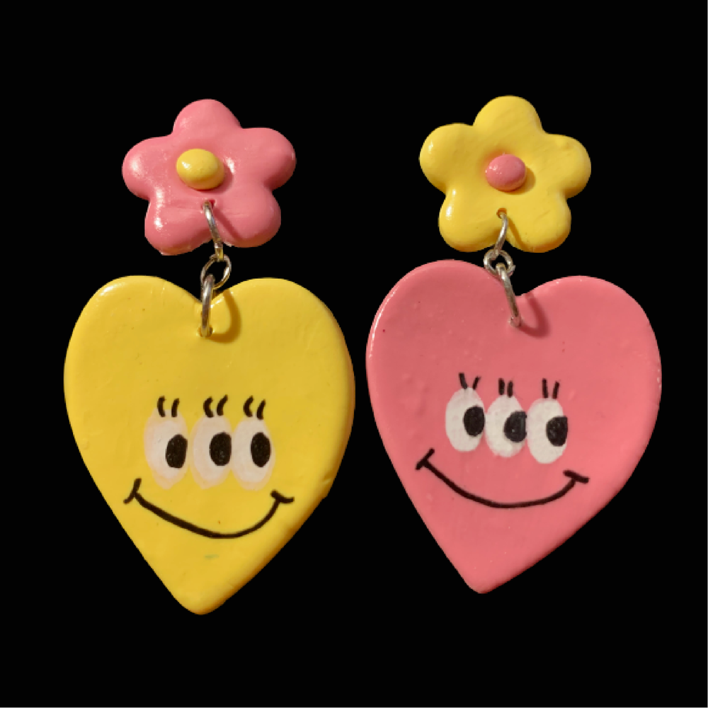 Image of Rose & Gold Daisy Hearts