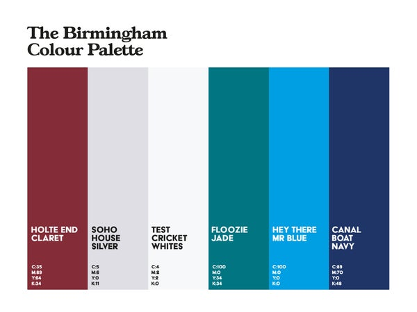 Image of Birmingham Colour Palette 2