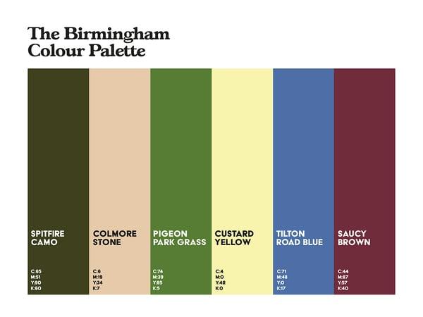 Image of Birmingham Colour Palette 3