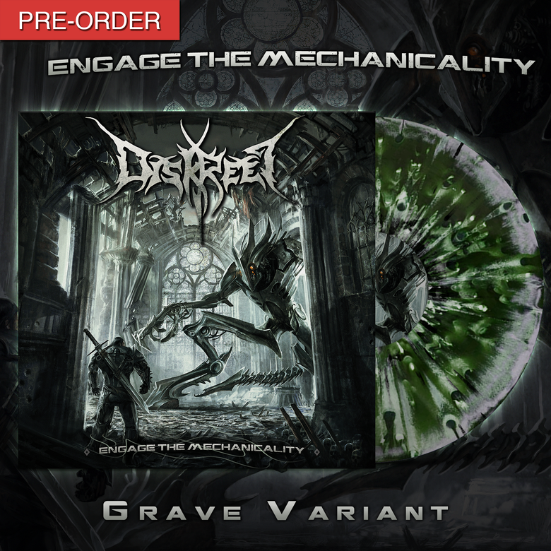 """Image of DISKREET - Engage the Mechanicality   12"""" Vinyl LP [Grave Variant]"""