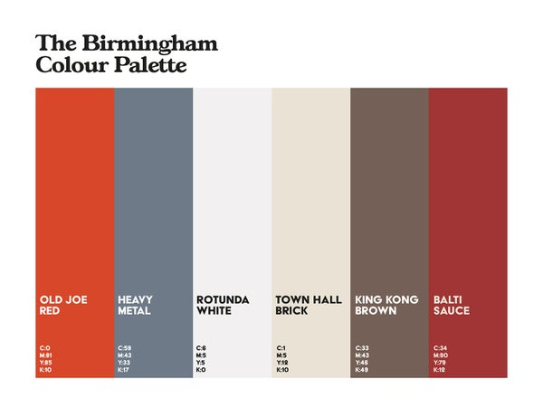 Image of Birmingham Colour Palette 5