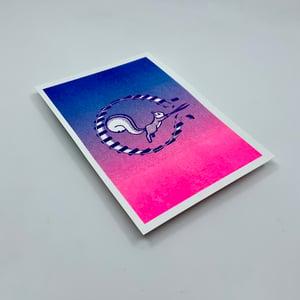 RISKO merch - Riot Squirrel pohľadnica