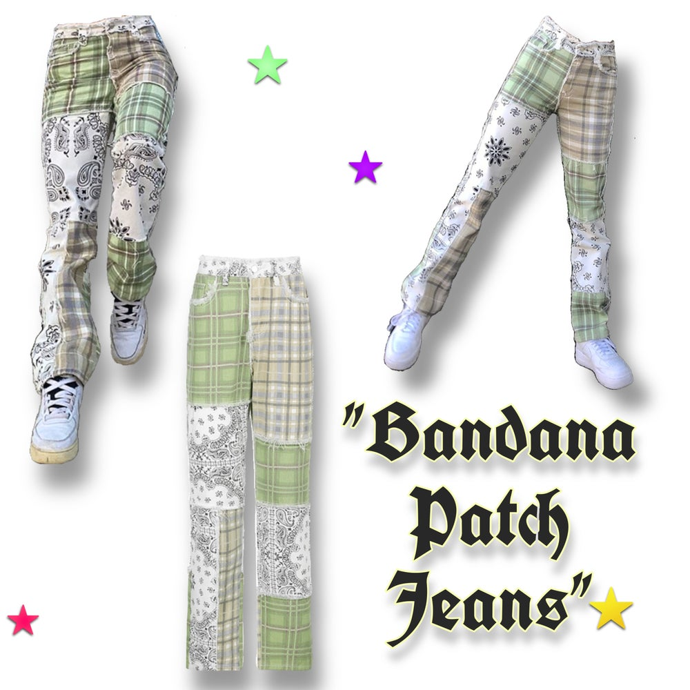 Image of Bandana Patch Jeans