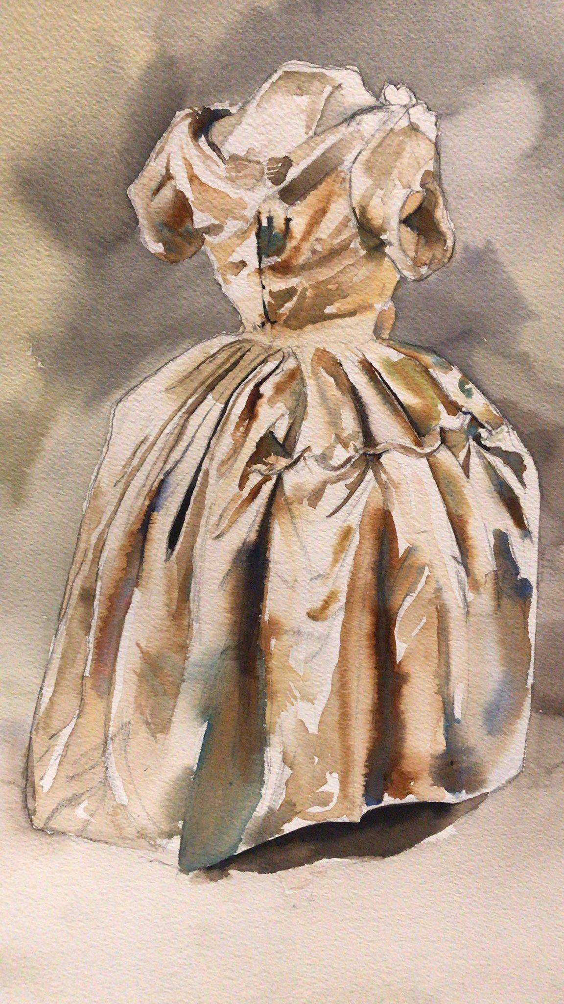 Image of Gold Dress - Print