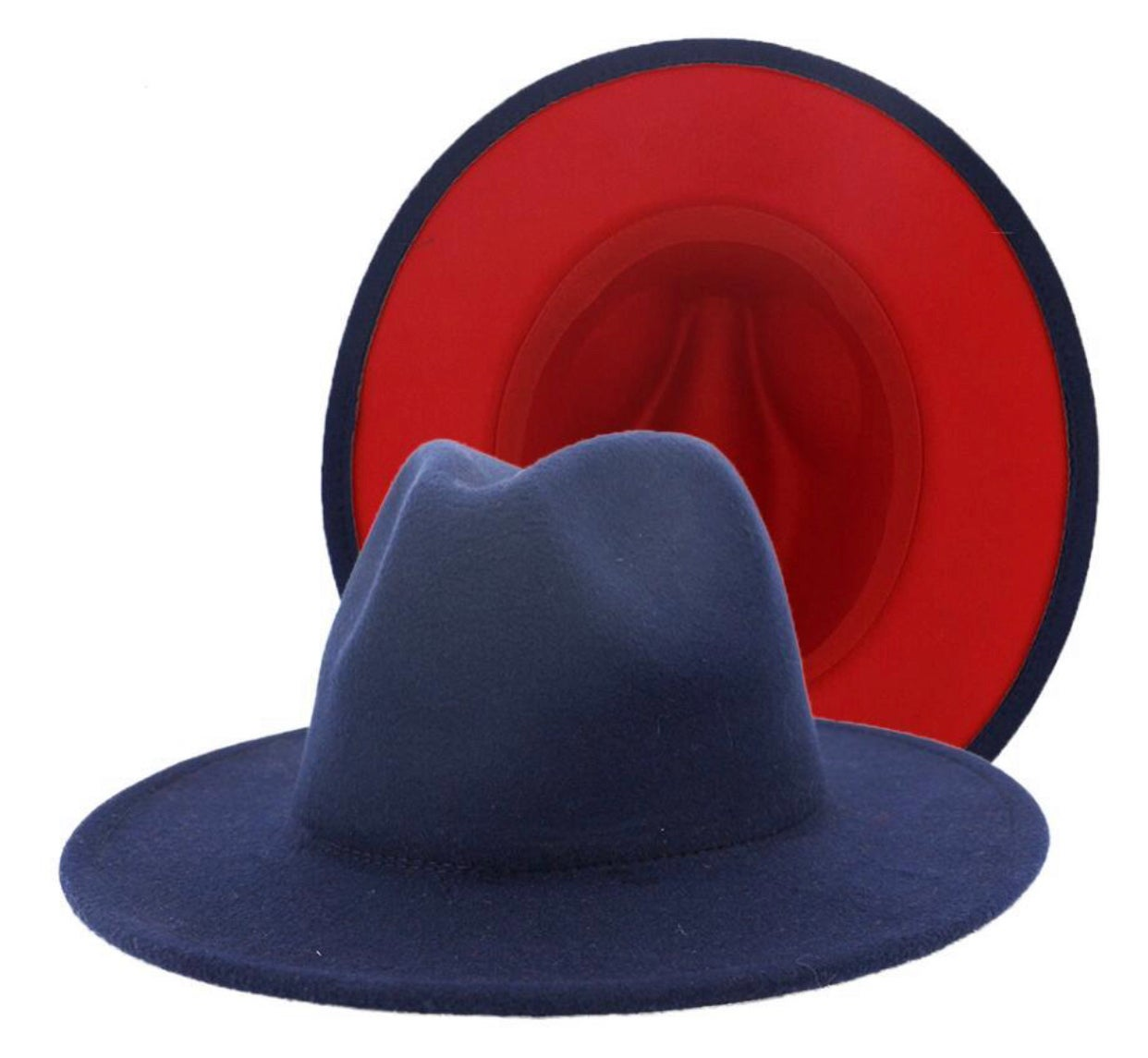 Image of Navy/Red Fedora