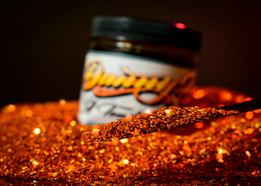 Image of DANNY D CANDY ORANGE CRUSHED GLASS