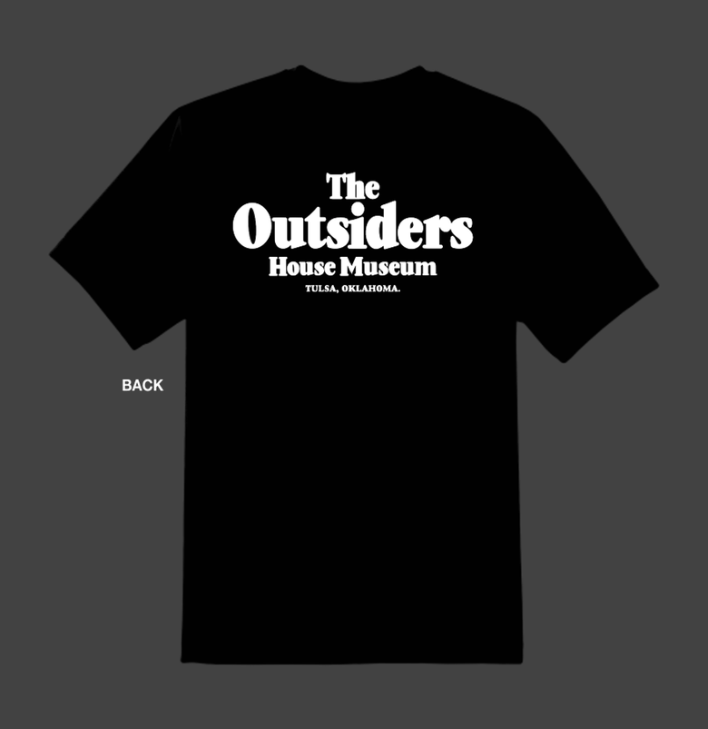 Image of The Outsiders House Museum, Tulsa, Oklahoma. (Movie Logo Font) T's