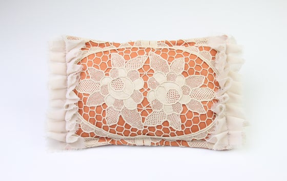 Image of Vintage Lace & Frills Newborn Posing Pillow - b