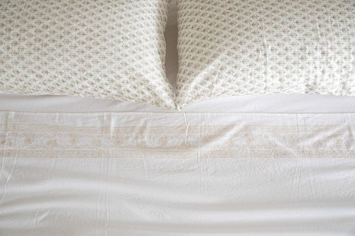 Image of White Fitted Sheet