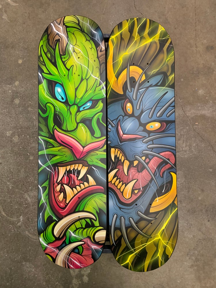 Image of Hand Painted Original Skate Decks