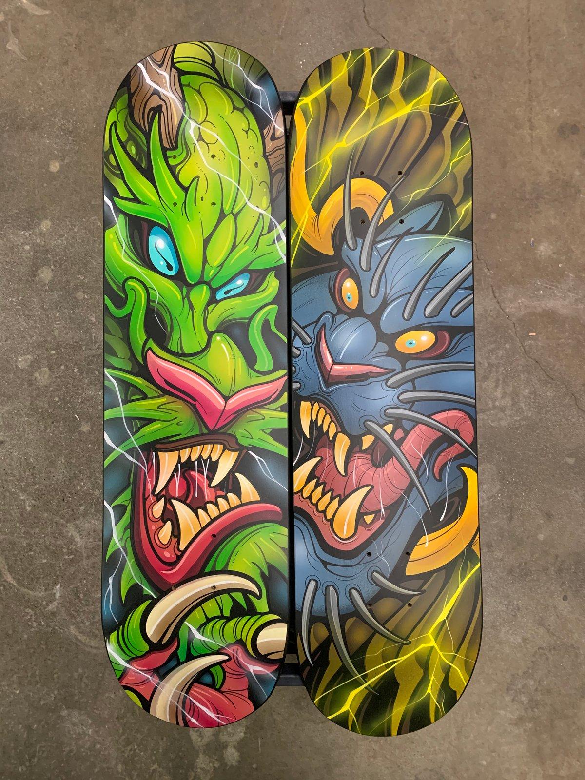 Image of Hand Painted Original Skate Decks