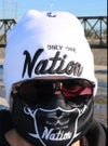Only One Nation white beanie