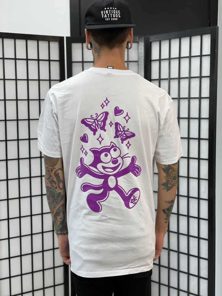 Image of White Inky Butterfly Tee