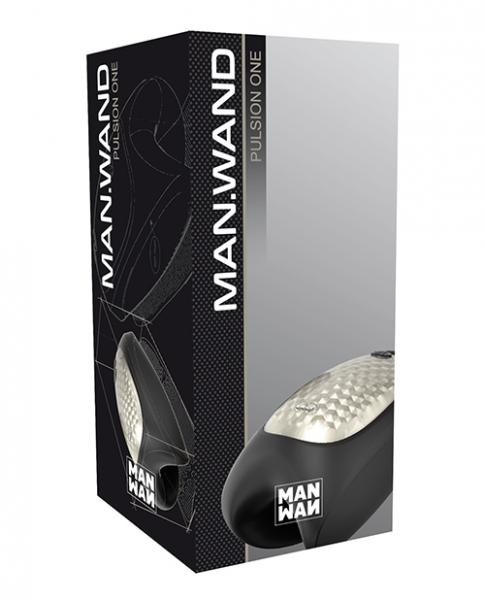 Man Wand Heat & Vibration Pulsion Black Stroker