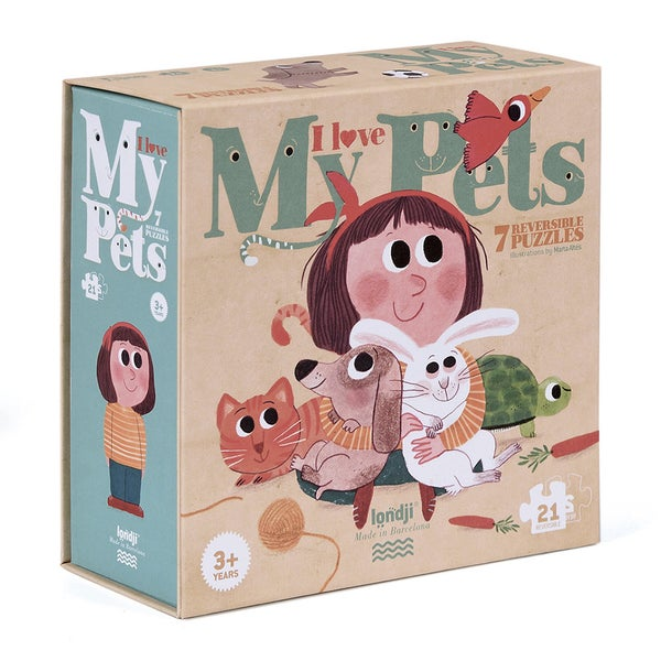 "Image of Puzzles reversibles ""I love my pets"""