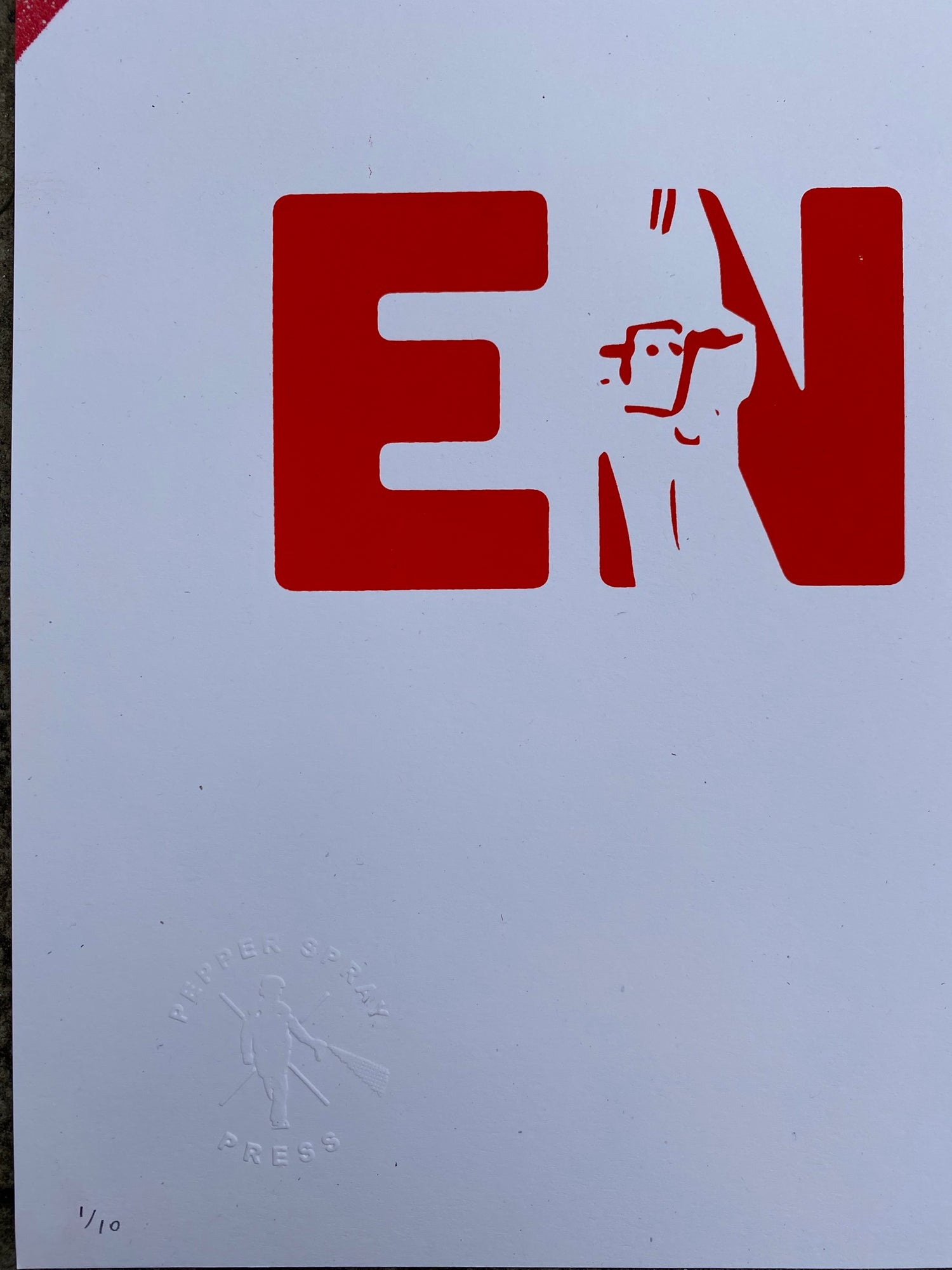 Image of *PUBLIC ENEMY* ACLU Hand-finished Print - featuring The Free Radicals