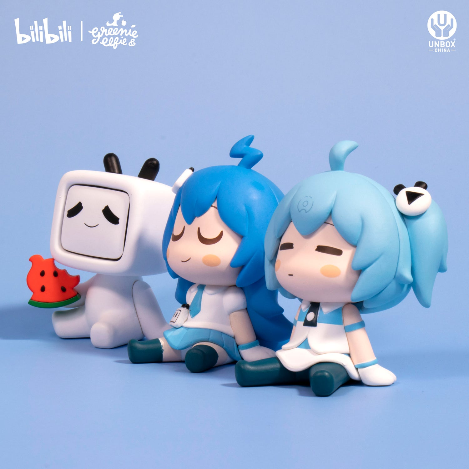 Image of BILIBILI X GREENIE & ELFIE CROSSOVER BLINDBOX SERIES 1 CDU