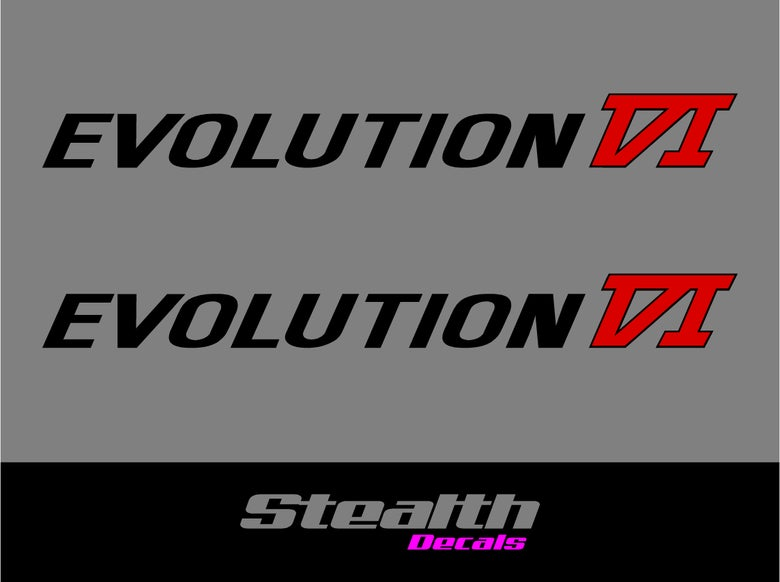Image of Mitsubishi Evo 6 VI Side decals x2