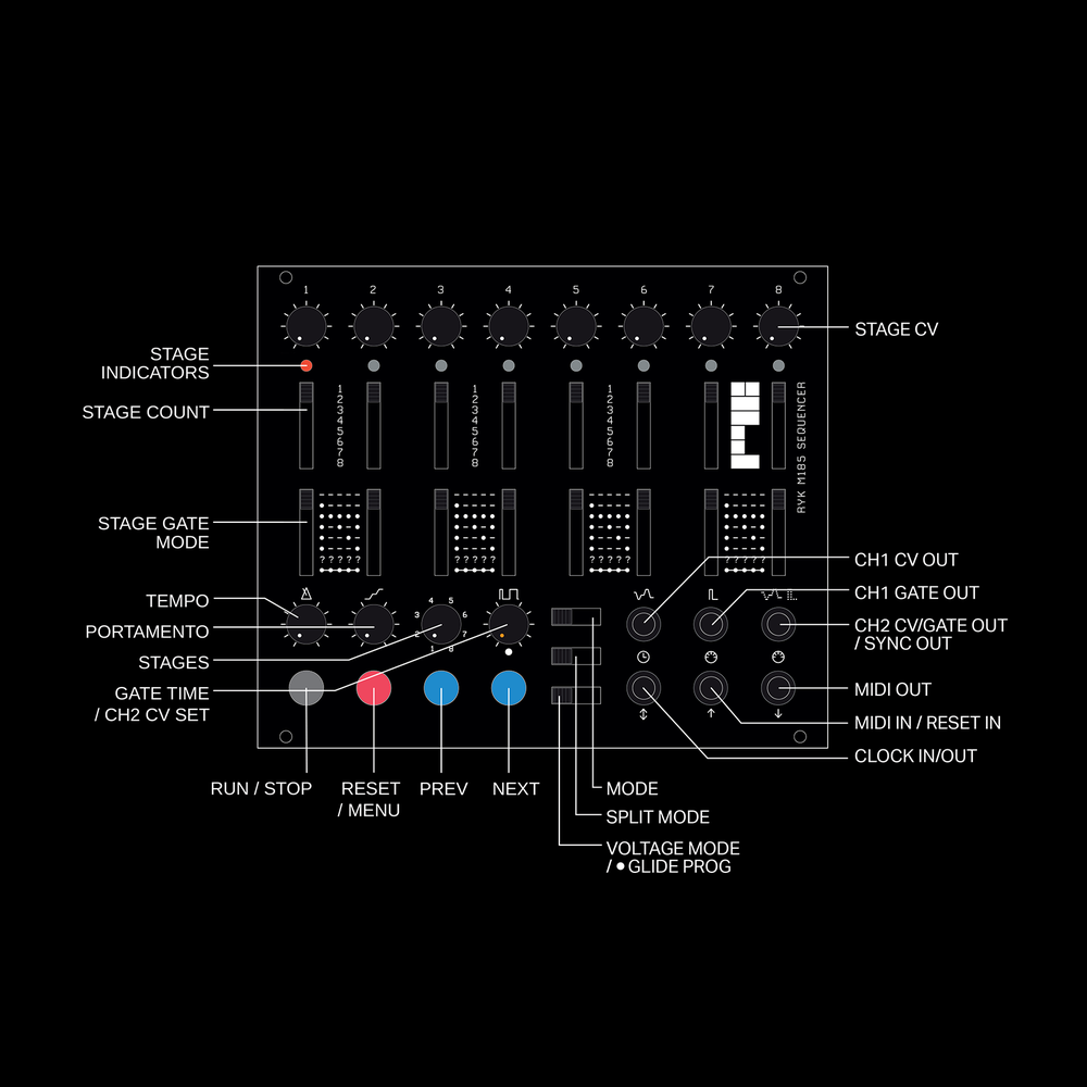 Image of M185 Sequencer Eurorack Kit [ with 2021 V3.5 Firmware ]