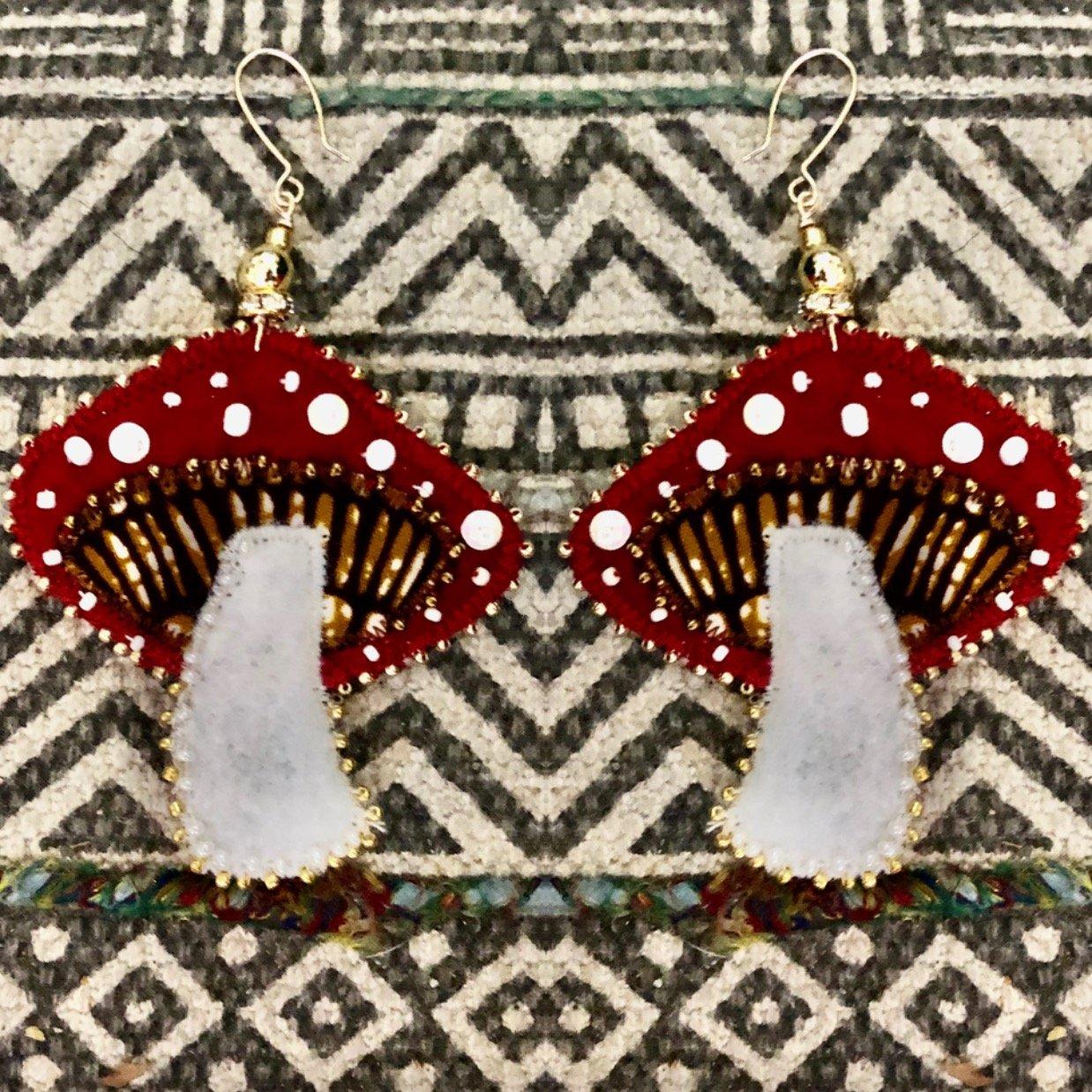 Image of Mushroom Magic Earrings