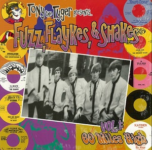 Image of LP. V.A. : Fuzz, Flakes & Shakes Vol 1 (60 Miles High).   RED Vinyl.