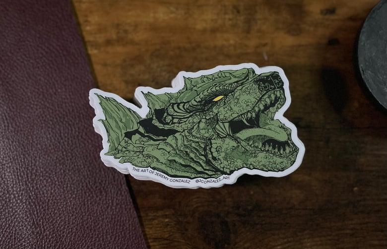 Image of Godzilla Sticker