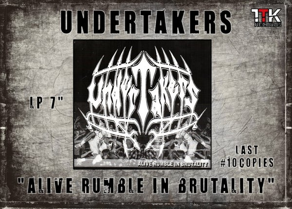 "Image of UNDERTAKERS - 7"" LP Black - Alive Rumble In Brutality + shopping bag"