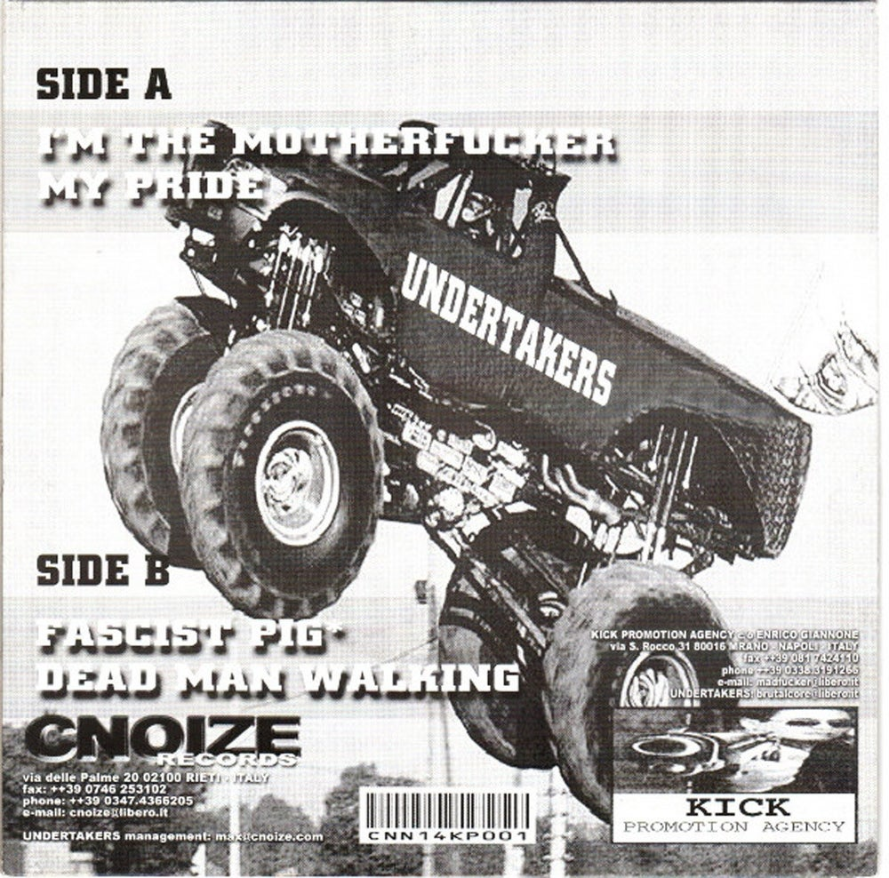"""UNDERTAKERS - 7"""" LP Black - Alive Rumble In Brutality + shopping bag"""