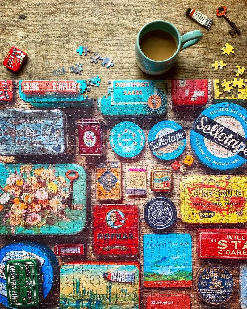 Image of 'Vintage Tins' 1000 Piece Jigsaw Puzzle