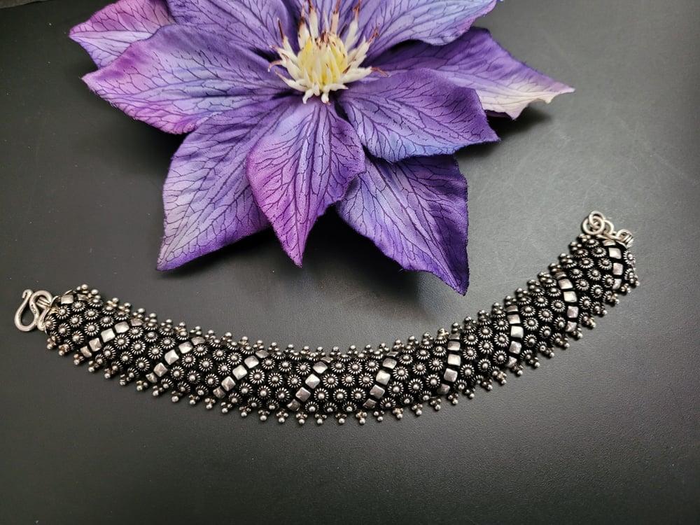 Oxidized pikun bracelet
