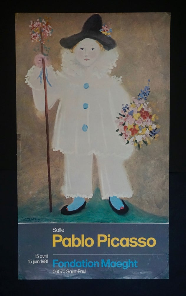 Image of pablo picasso (after) / paulo with flowers poster / 23/642