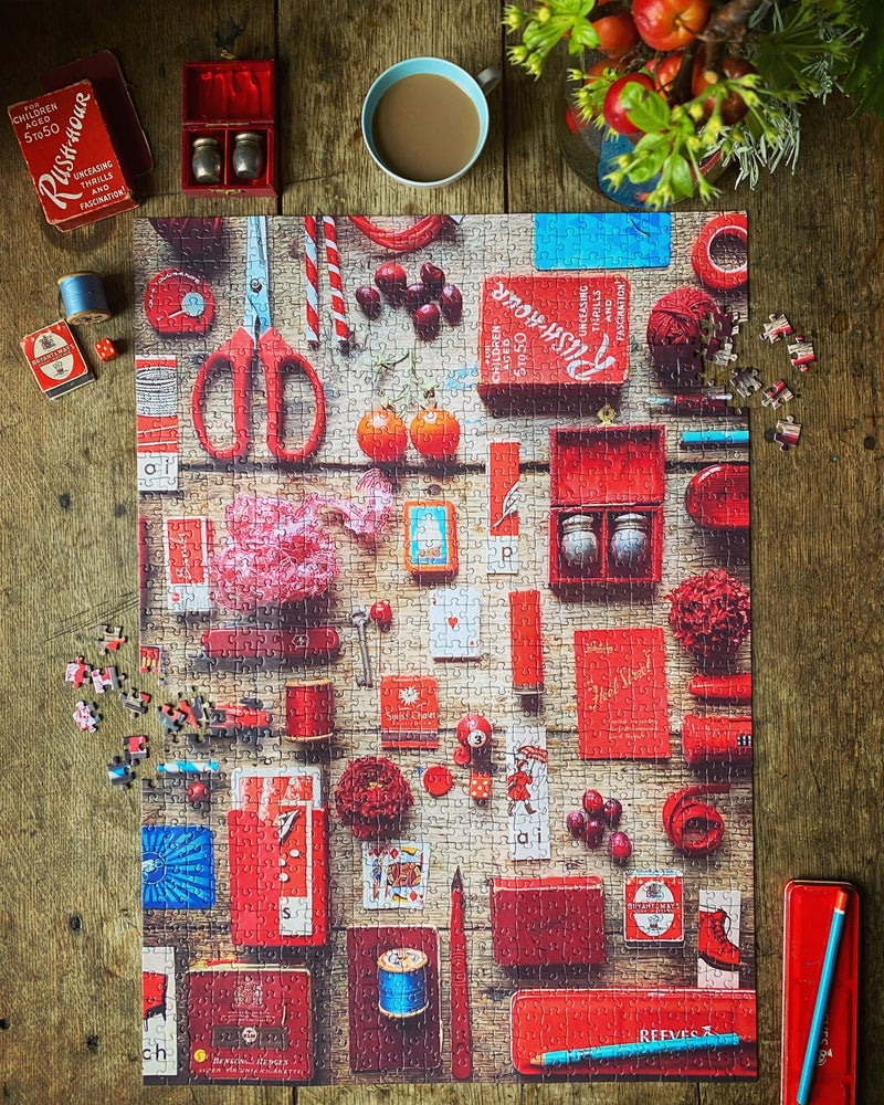 Image of 'Red Collection' 1000 Piece Jigsaw Puzzle