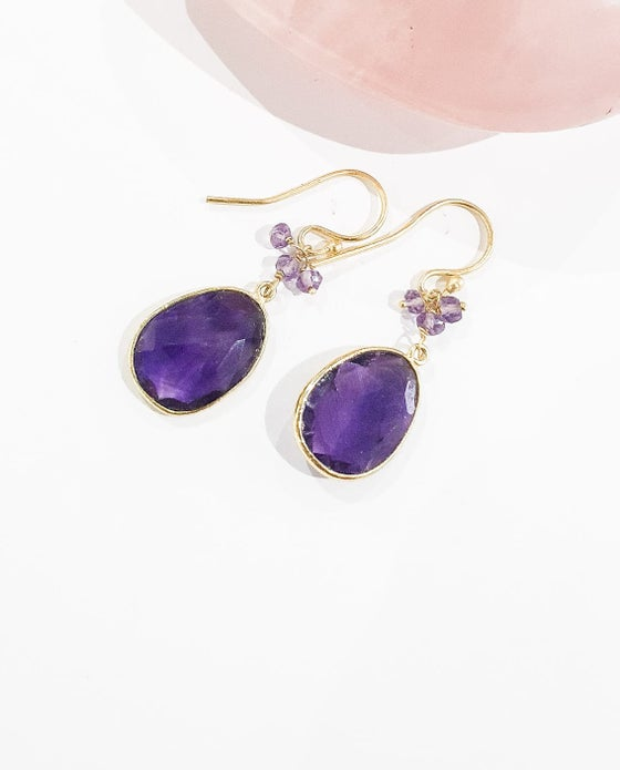 Image of Amethyst Charm Earrings