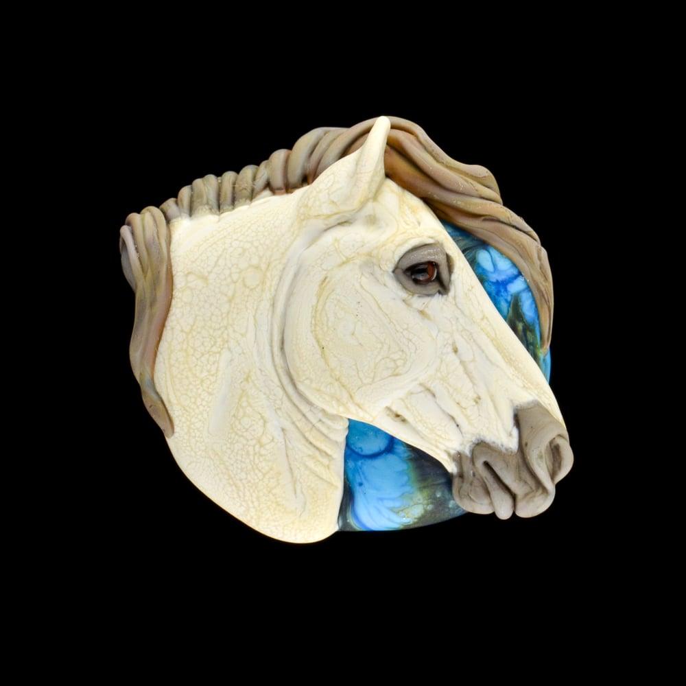 Image of XL. Rasa Stallion - Flamework Glass Sculpture Bead