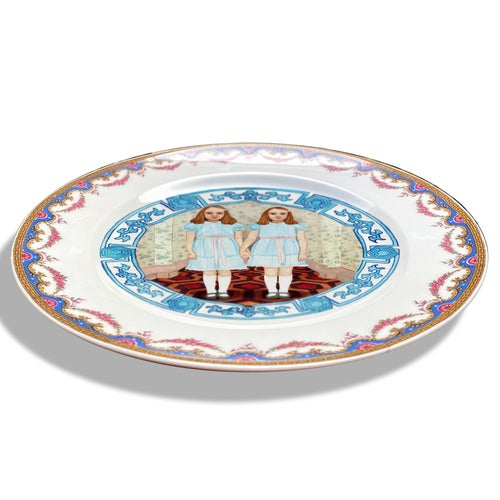 Image of The Shining Twins - Vintage French Porcelain Plate - #0750