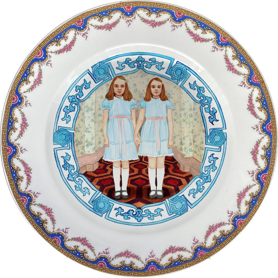 Image of The Shining Twins - Vintage Porcelain Plate - #0750