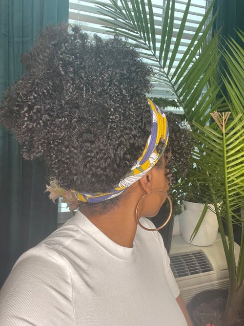 Image of 16 inch KINKY CURLY 3c/4a HEADBAND WIG WITH BANGS