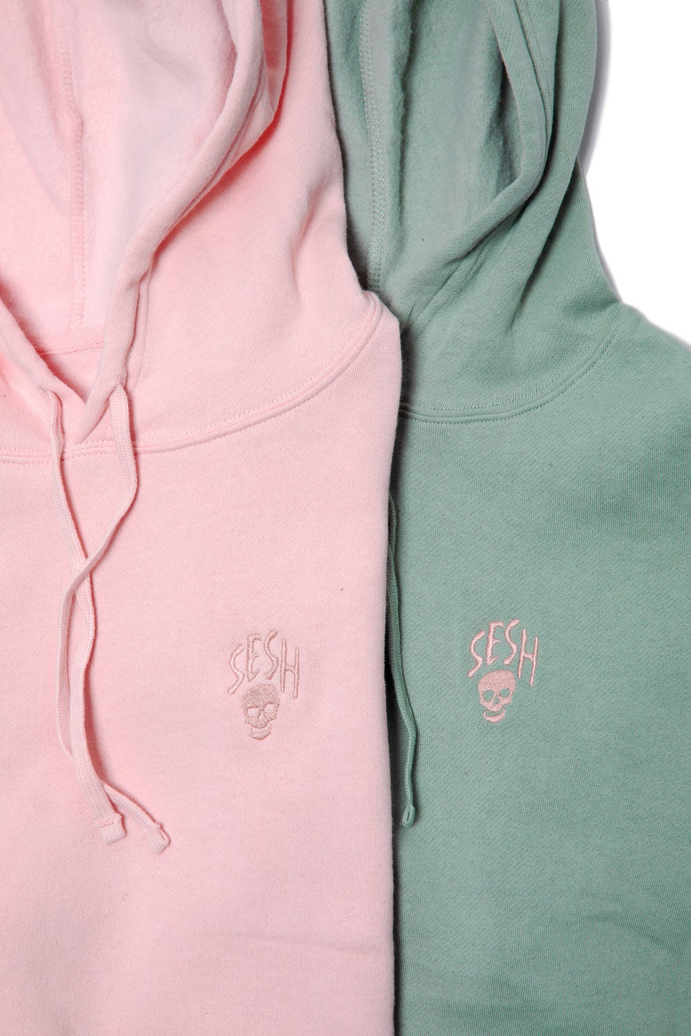 Image of Ladies Embroidered Seshskull Cropped Hoodie