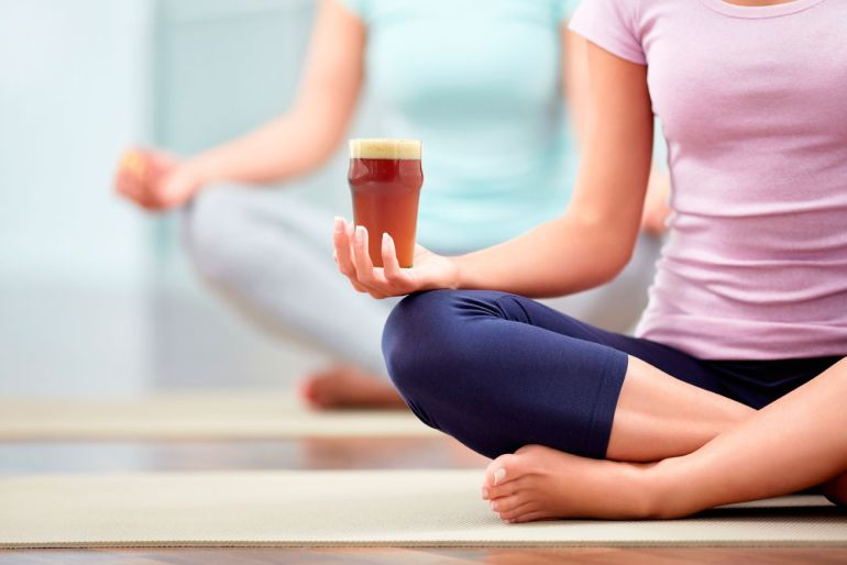 Image of 1 Hour Beer and Yoga Class