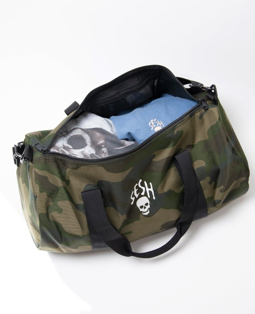 Image of Seshskull Embroidered Camo Duffle bag