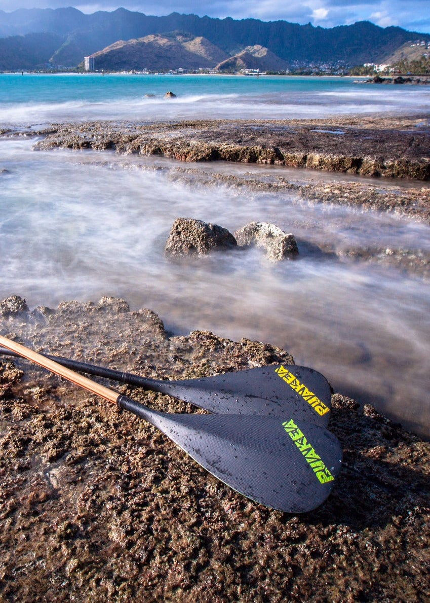 Image of Hopu Hybrid Outrigger Paddle