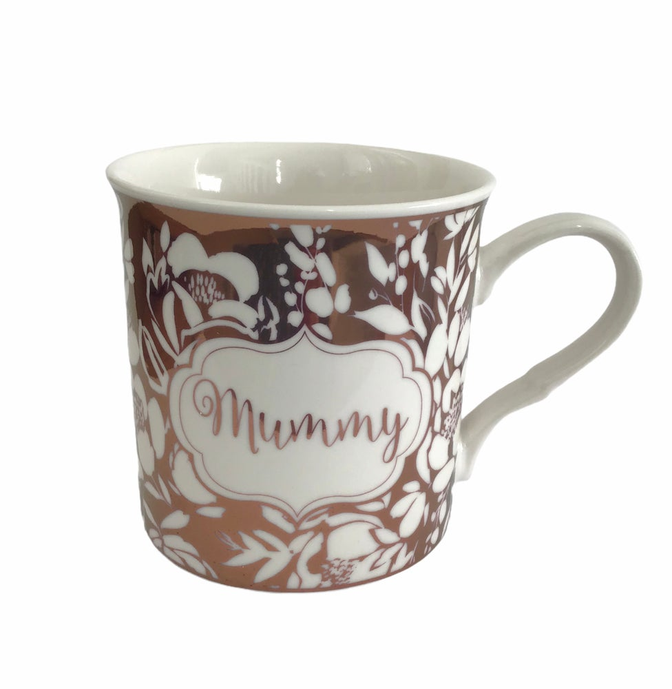Image of Gisela Graham 'Mummy' Rose Gold Mug