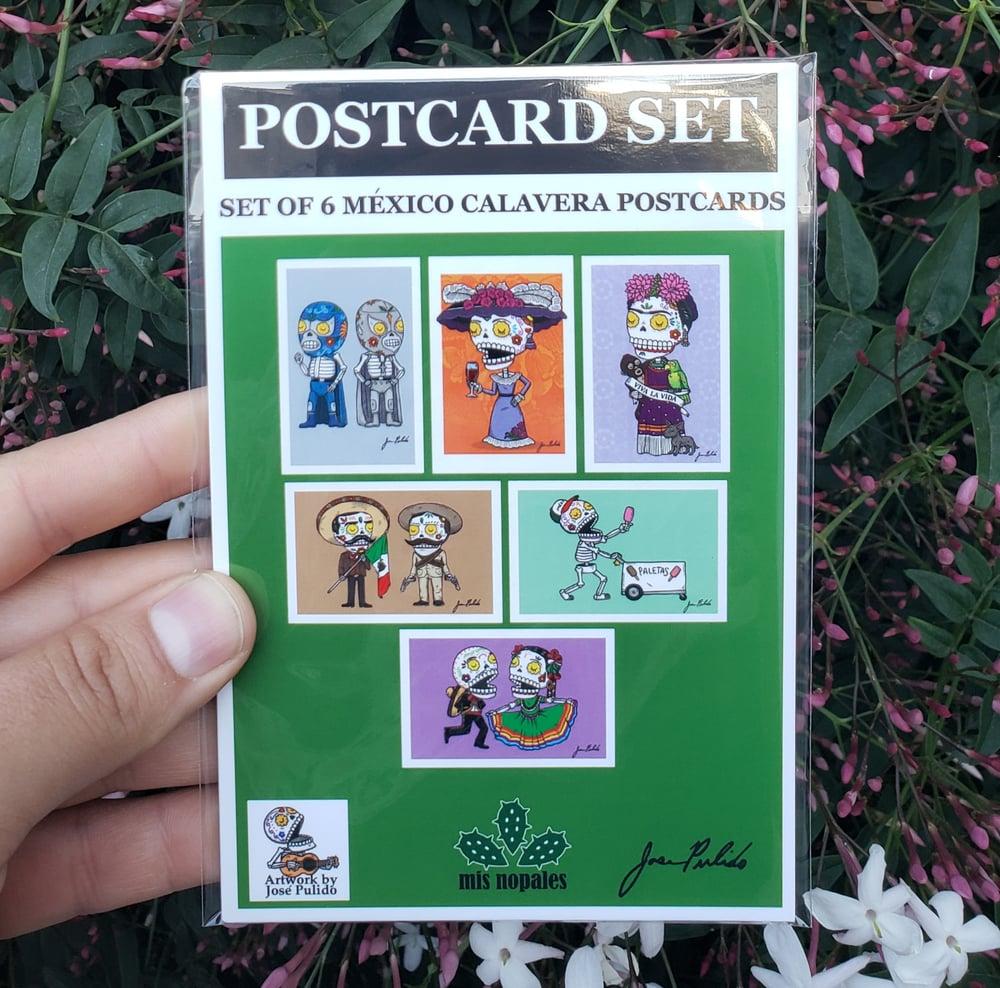 México Calaveras Postcard Set