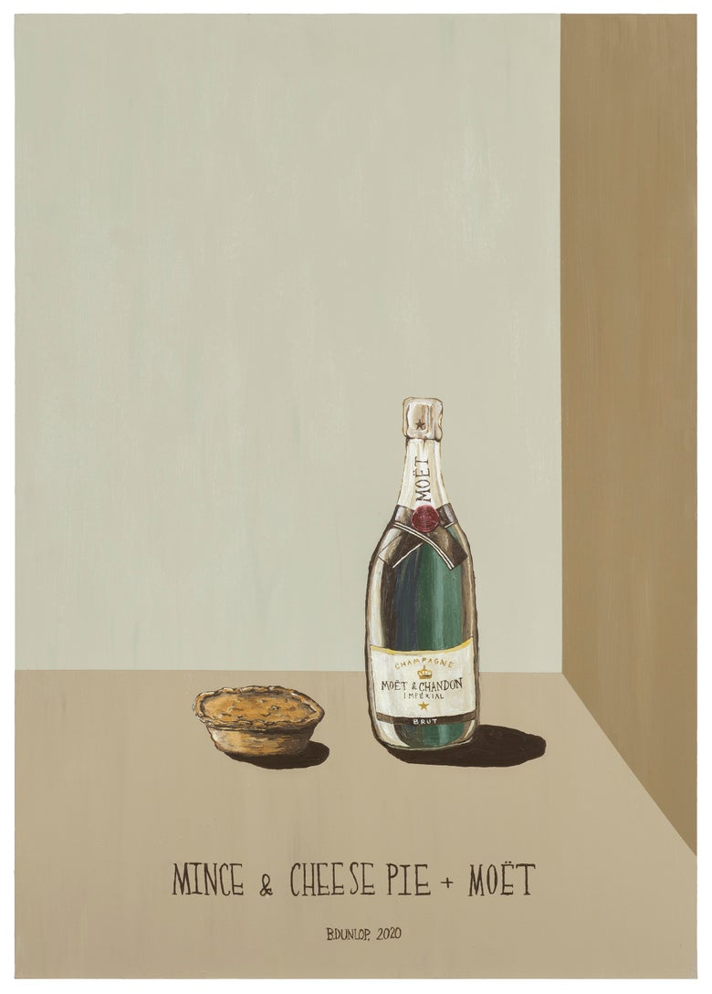 Image of Mince & Cheese Pie and Moët - SIGNED PRINT