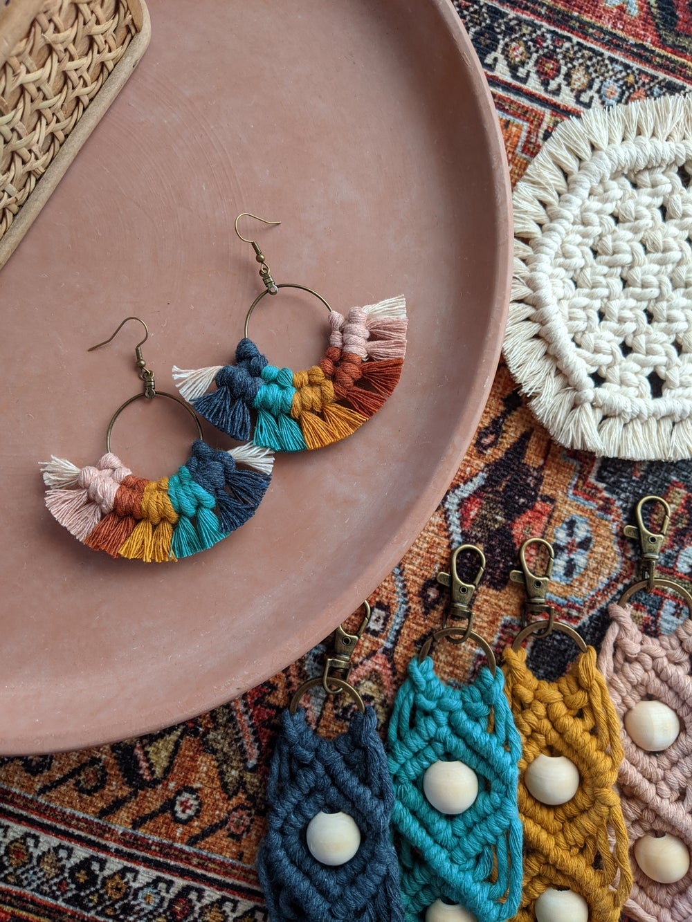 Image of Rainbow Fringe Earrings