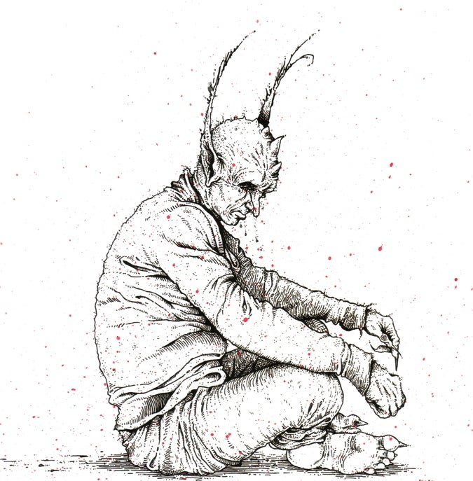 'The Thinking Demon' print w/ REAL demon blood!