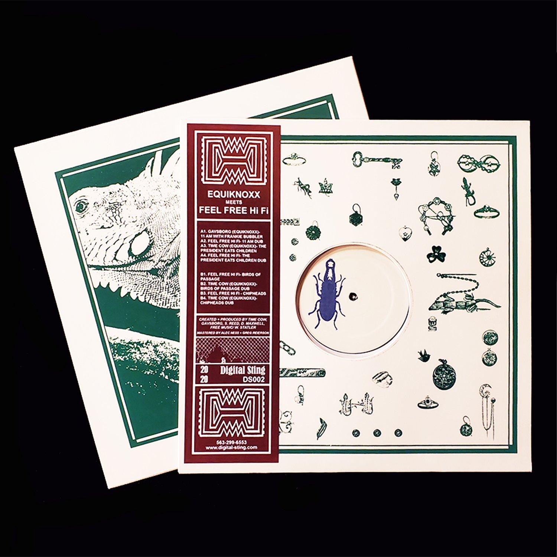 """Image of Equiknoxx meets Feel Free Hi Fi  12"""" Vinyl  PRE-ORDER"""