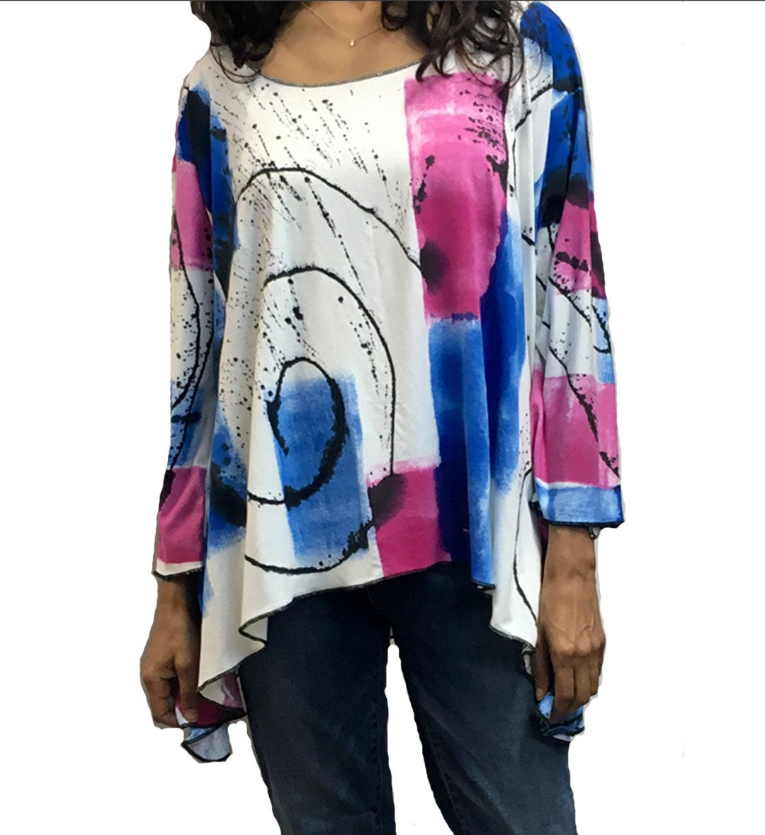 Image of Lisa Top - Rayon/Spandex - Hand Painted